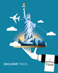 Exclusive, New York, Travel, Serve, Statue of Liberty