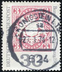 stamp shows Bavaria No. 16, Arms of Bavaria