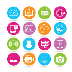 network icons, electronic device icons