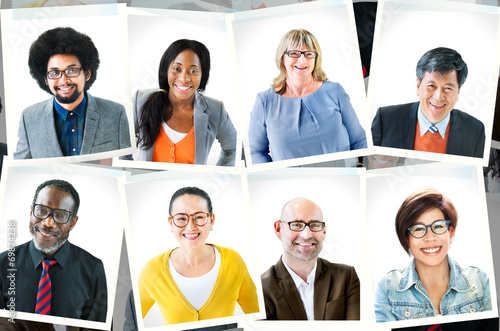 canvas print picture Photographs of Diverse Group of People