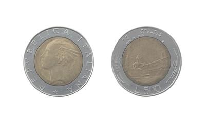 Used 500 italian lira