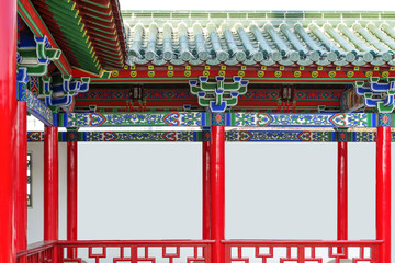 ancient Chinese architecture,red gallery