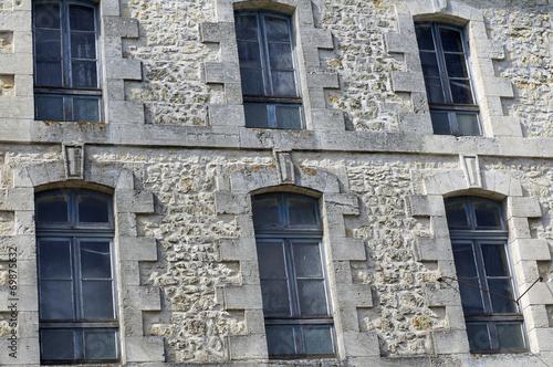 canvas print picture façade d'immeuble en pierre
