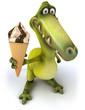 canvas print picture - Fun dinosaur