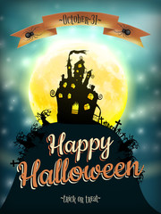 Halloween night background. EPS 10
