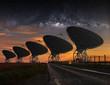 Radio Telescope view at night - 69876845