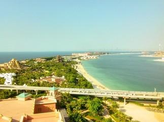 View from the window of Atlantis hotel, Dubai