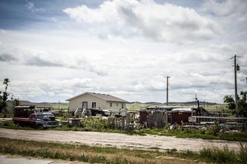 House in Oglala Indian Reservation, South Dakota.