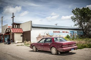 Entrance to Reservation of Indians Oglala