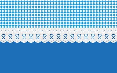Oktoberfest Hintergrund Muster Ajour Gardienen blau