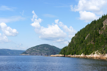 Saint Lawrence River near Tadoussac and Saguenay Fjord in Canada