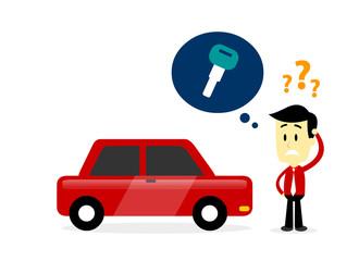 Man Missing A Car Key