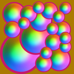 Colorful background with spheres