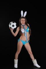 Зайка-футболист