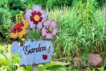Vintage Signboard in the garden