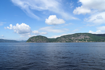 Saint Lawrence River near Tadoussac in Canada
