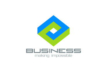 Logo Business Rhombus vector design Abstract impossible