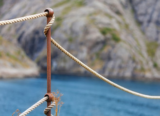 Absperrung, Seil