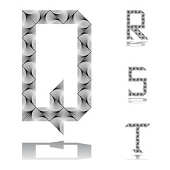 Design ABC letters from Q to T