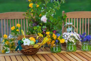 Tischschmuck zu Ostern