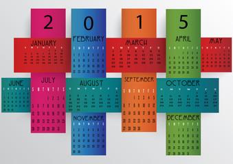 Colorful Calendar-2015