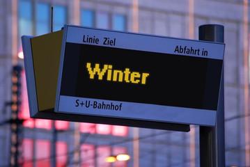Anzeigetafel 1 - Winter