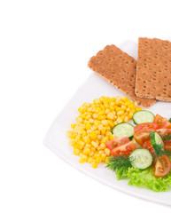 Salad with corn.