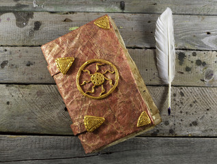 Magic book with quill 1
