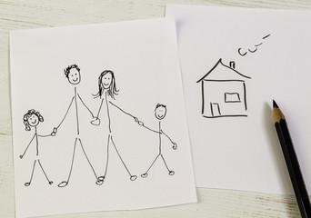 Familie mit Traumhaus