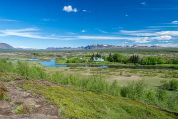 Scenic view of famous Thingvellir, Iceland.