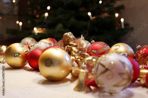 canvas print picture Festlicher Weihnachtsschmuck