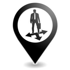 coaching sur symbole localisation noir