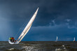 Leinwandbild Motiv Sailing in a gale