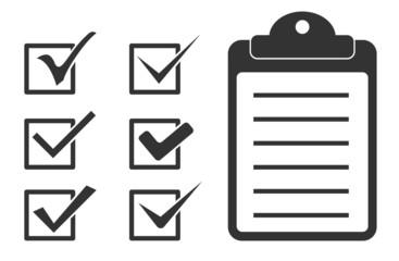 checkmark and checklist icon