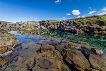 Scenic view of Öxará river, Thingvellir, Iceland.