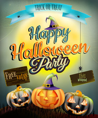 Halloween poster for holiday. EPS 10