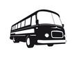 Vintage Bus Silhouette