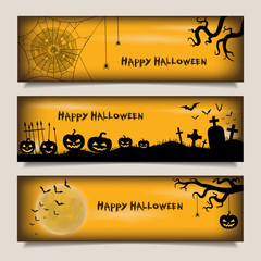 Banners with Happy Halloween