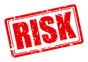 Risk red stamp text