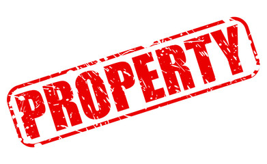Property red stamp text
