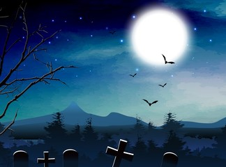 Halloween night background for you design