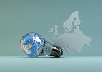 Green Energy in Europa - light blue