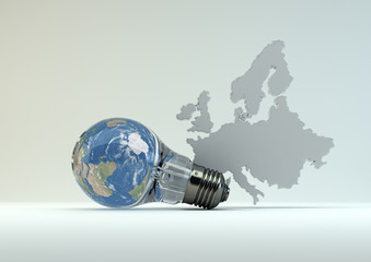 Green Energy in Europe - weiss