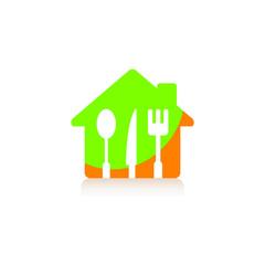 Logo menu restaurant kitchen business