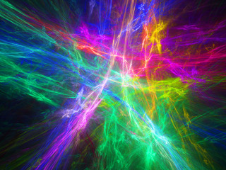 Multicolor glowing plasma in space
