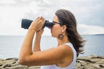 teen binoculars landscape