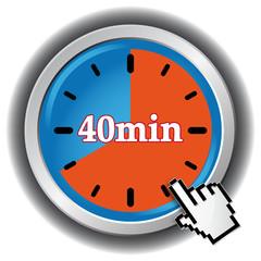 40 MINUTES ICON
