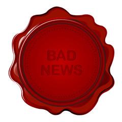 Wax seal with bad news