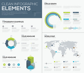 World map infographcis and clean design business vector elements