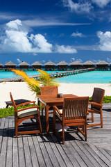 cafe on beach resort, luxury vacation